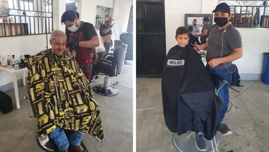 Barber Shop Señor Conejo cortó cabello a cambio de víveres en Camotán, Chiquimula (1)