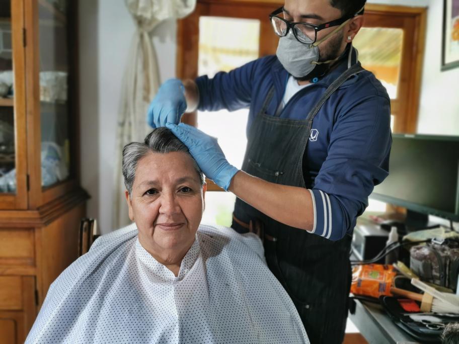 Barbería a domicilio en Guatemala Coronavirus
