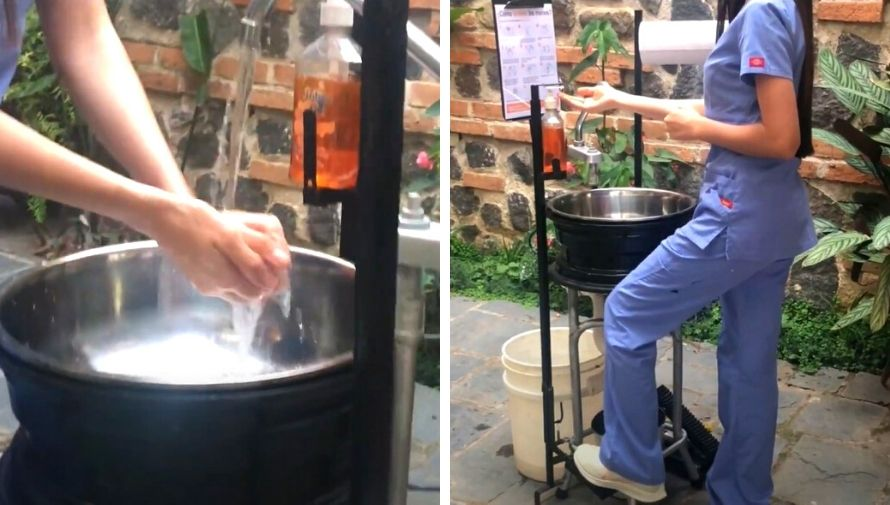 Capalav, estudiantes de USAC crearon lavamanos a bajo costo que utiliza agua de lluvia