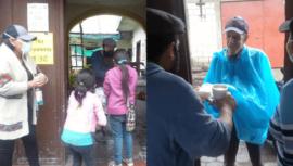 Casa Cultural El Cadejo y ditorial Artesanal Alambiqve ofrecen desayunos a personas necesitadas