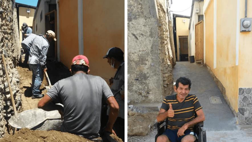 Guatemaltecos construyeron rampa de acceso para Milo Rodas en Gualán, Zacapa