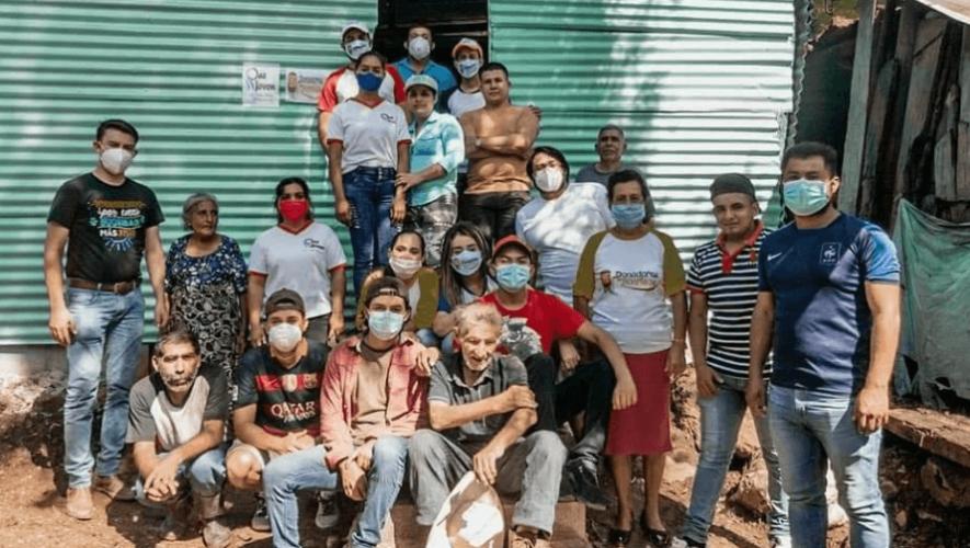 Guatemaltecos construyeron vivienda a familia de escasos recursos en Ipala, Chiquimula