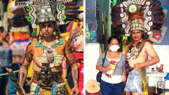 Holger Aguallo interpreta a príncipe maya para recaudar víveres en Petén