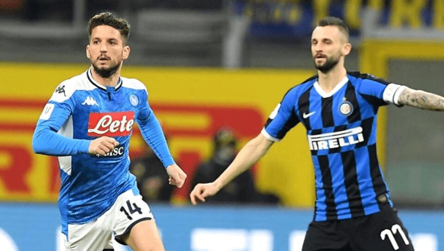 Hora y canal para ver en Guatemala la semifinal Napoli vs. Inter de Milán, Copa Italia 2020