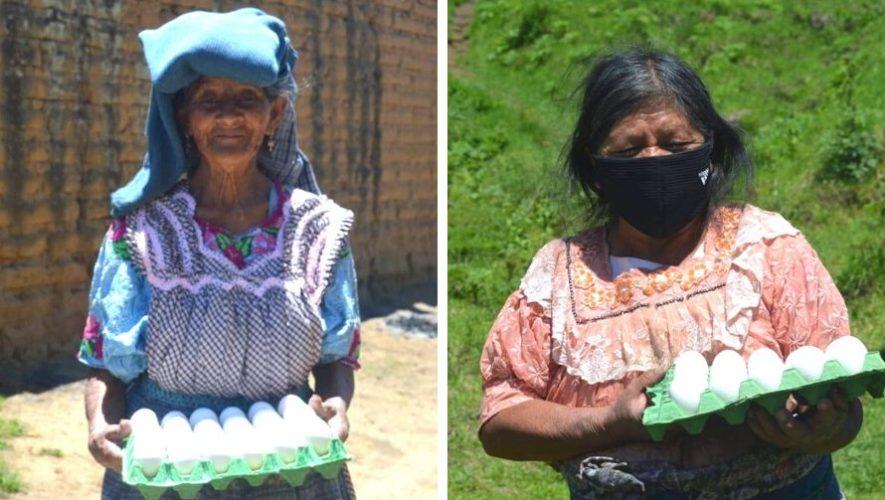 Huevos Génesis donó cartones de huevos a personas de escasos recursos de Salcajá