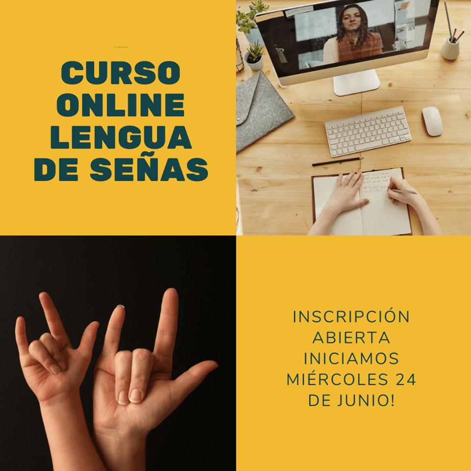 Inscripciones para cursos en línea de lengua de señas en Asedes durante junio 2020