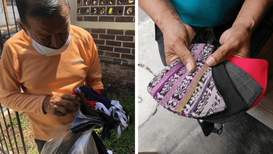 Jacinto Cubur elabora mascarillas y arregla prendas desde su casa para comprar comida