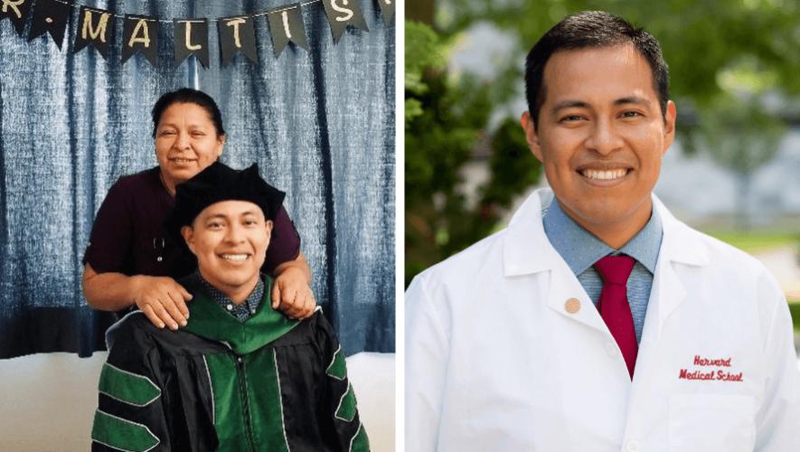Maltish Lorenzo, originario de Huehuetenango, se graduó de médico y cirujano en Harvard