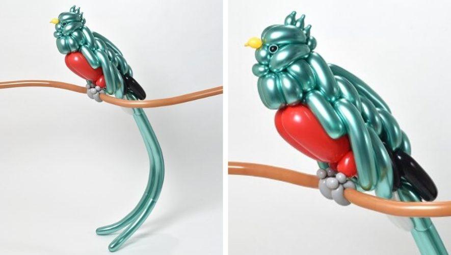 Masayoshi Matsumoto, artista japonés, creó una escultura de un quetzal con globos