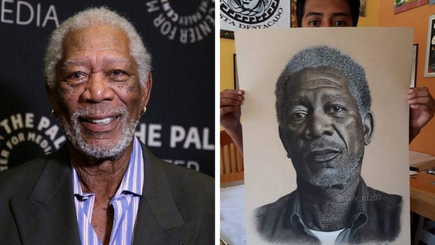 Morgan Freeman compartió el retrato del guatemalteco Rudy Niz en sus redes sociales