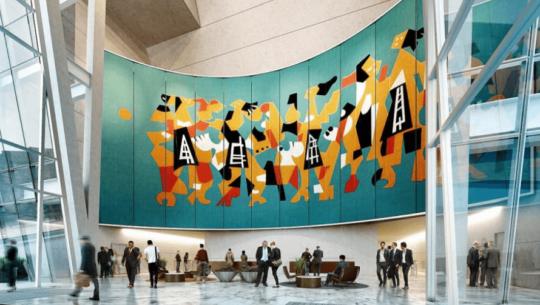 Mural Los Danzantes de Carlos Mérida en reconocido edificio de la Ciudad de México