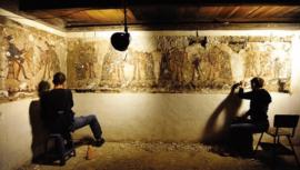 Revelan datos del mural Danza de la Conquista descubierto en una casa de Chajul, Quiché