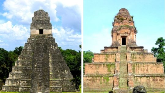 Similitudes del templo Gran Jaguar, Guatemala, con el templo Baksei Chamkrong, Camboya