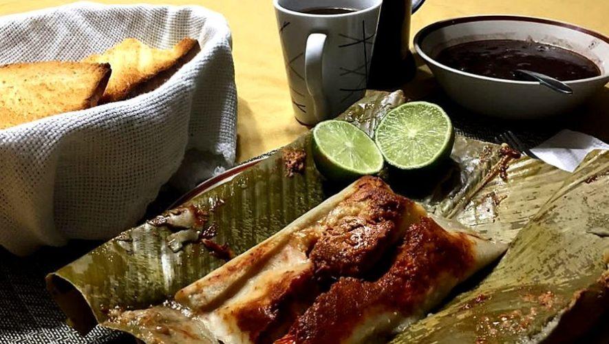 Restaurante Santa María ofrece tamales a domicilio en Guatemala