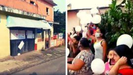 Vecinos se unieron para brindar palabras de aliento a familia en cuarentena en Suchitepequez