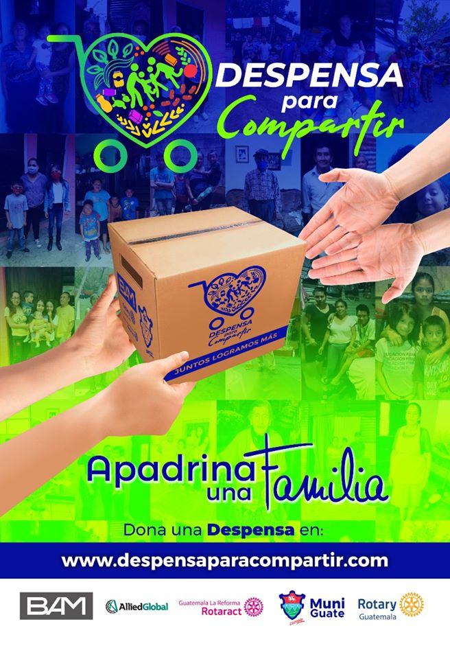 movimiento donará cajas de comida a hogares guatemaltecos