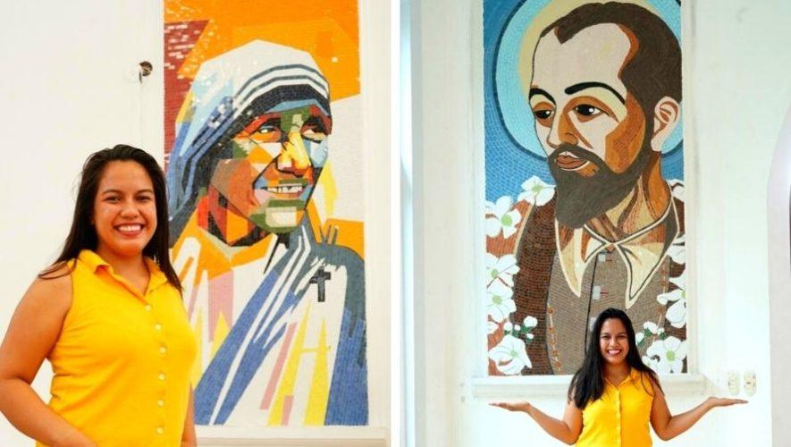 Alisson Perla, originaria de Puerto Barrios, crea sorprendentes mosaicos