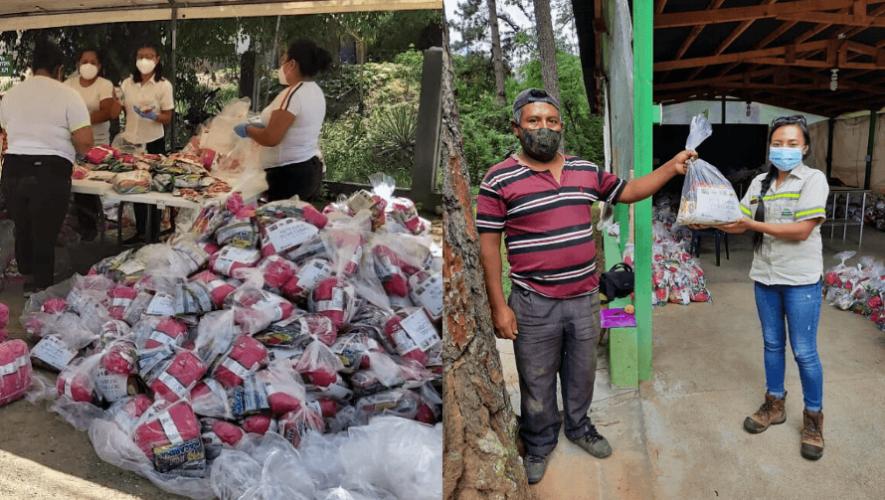 COVID-19 Cementos Progreso donó bolsas de alimentos a comunidades de escasos recursos