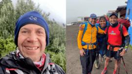COVID-19 El reto extremo de Juan Carlos Sagastume para ayudar a familias de Chimaltenango