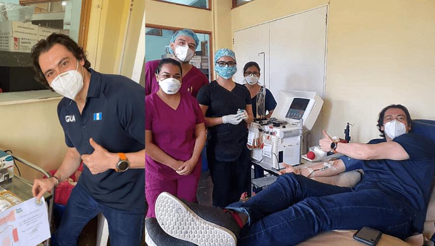 Charlie Sarmiento donó plasma para ayudar a la lucha contra el COVID-19