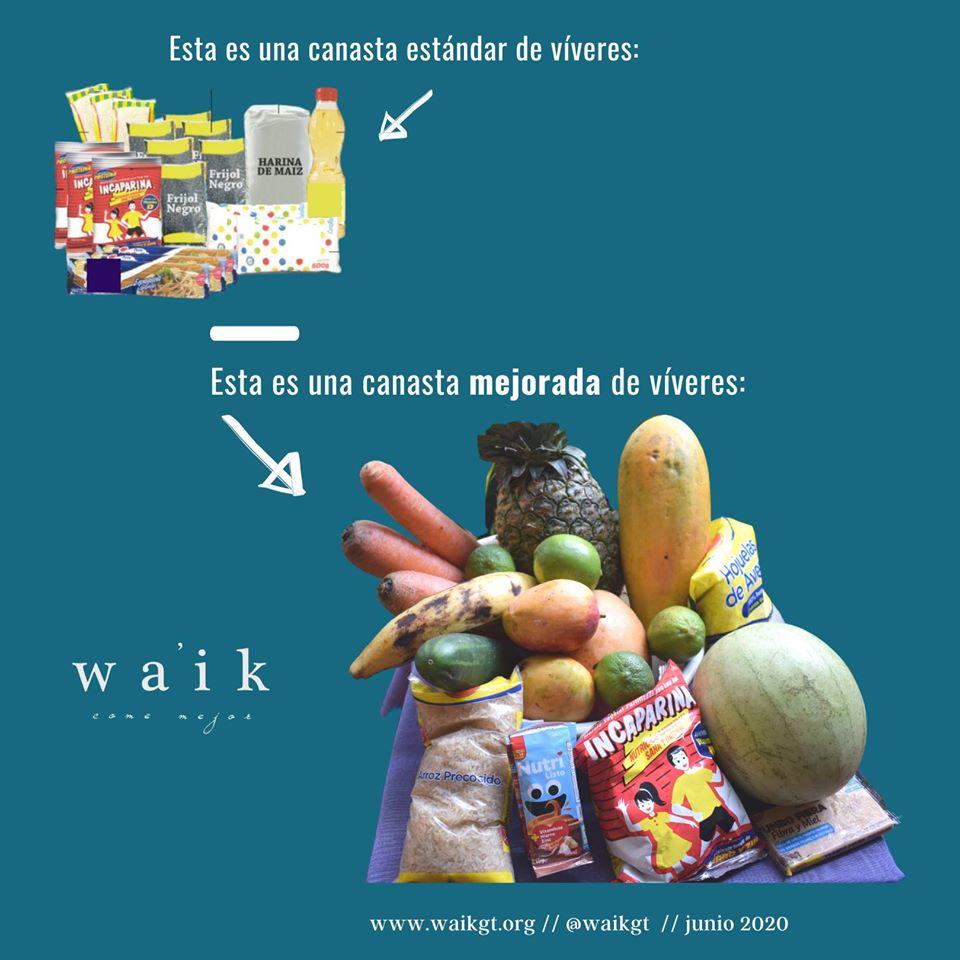 Come Mejor Wa'ik donó canastas mejoradas de víveres a familias de escasos recursos