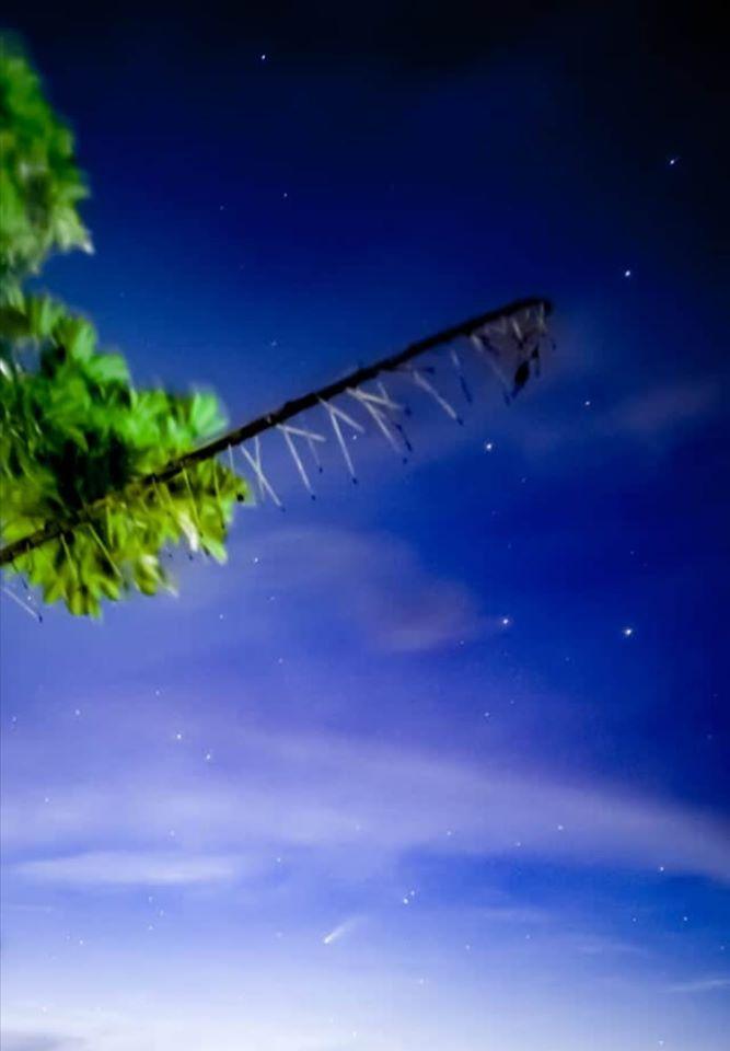 Cometa Neowise captado desde El Progreso, Guatemala