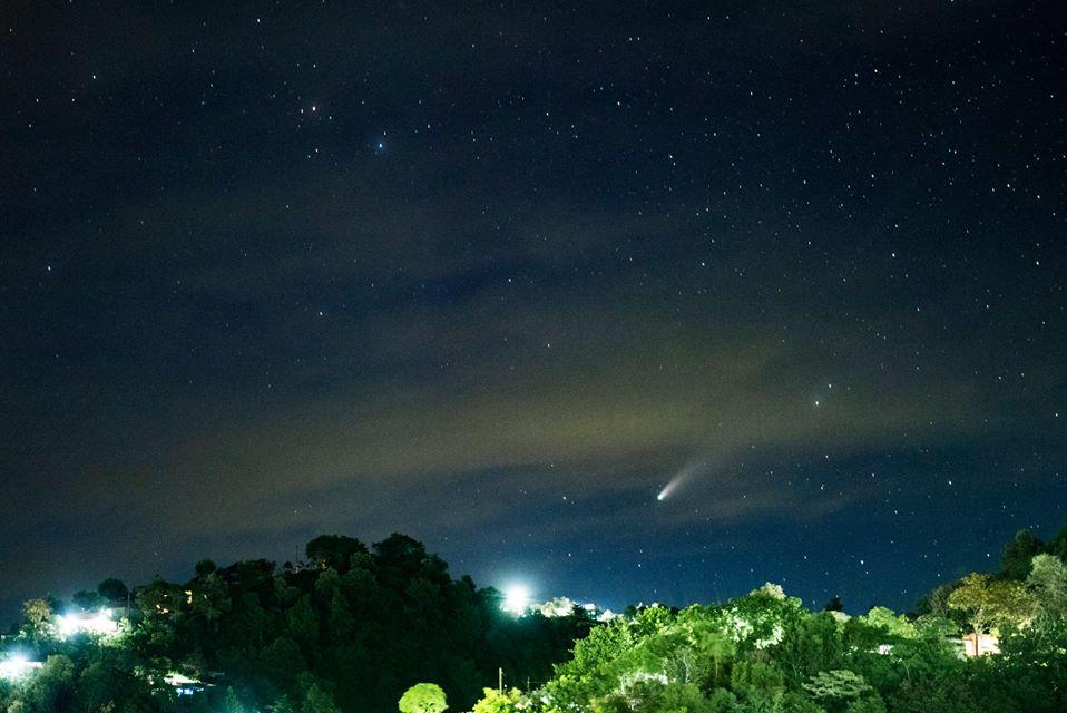 Cometa Neowise en Guatemala fotos de guatemaltecos