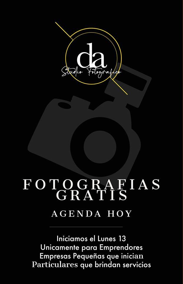 DA Studio Fotográfico toma fotografías gratis a emprendedores