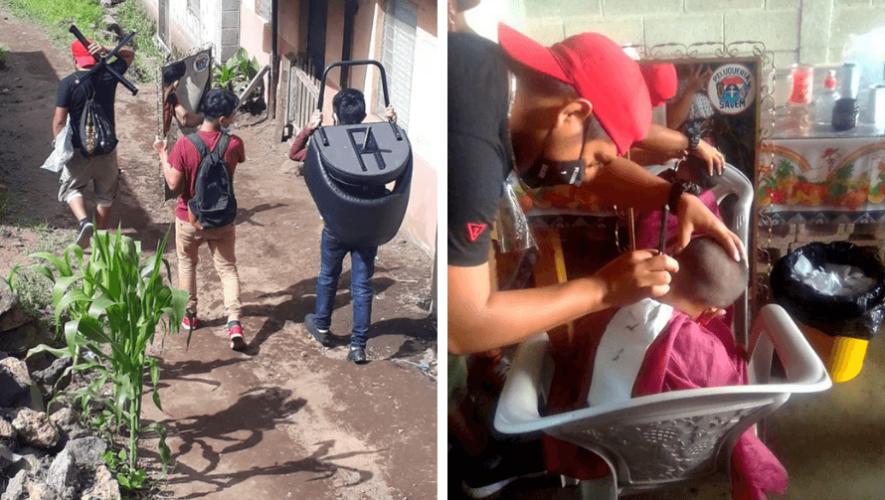 Guatemaltecos cortan cabello gratis a guatemaltecos de escasos recursos en Sololá