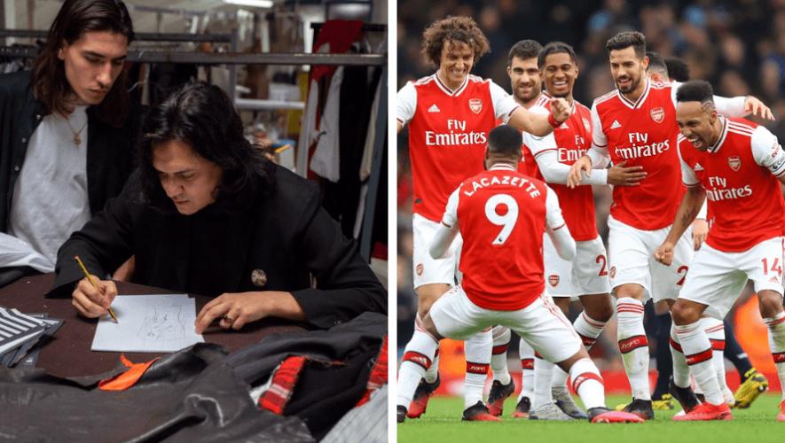 Guillermo Andrade, diseñador guatemalteco, vestirá al equipo Arsenal F.C. de Inglaterra
