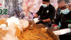 Intercambio de paella por víveres para personas necesitadas   Julio 2020
