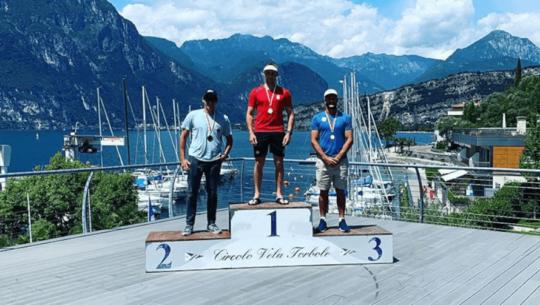 Juan Maegli ganó el segundo lugar de la regata de Torbole 2020 en Italia