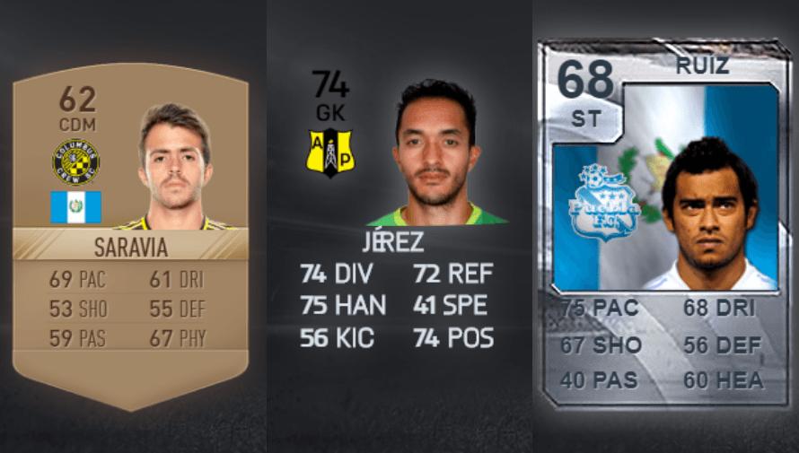 Jugadores guatemaltecos que han aparecido en FIFA a lo largo de la historia