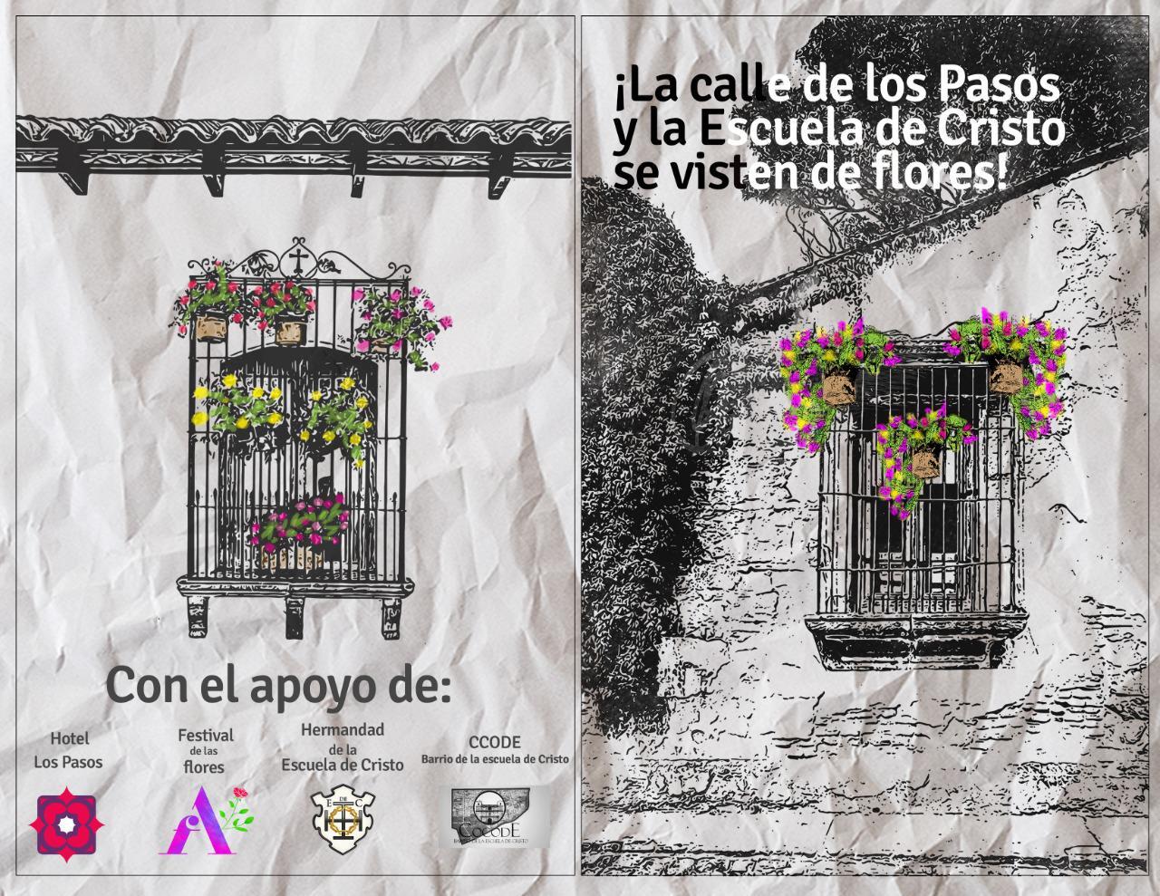 La Calle de Los Pasos, en Antigua Guatemala, se viste de flores