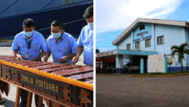 Marimba Familia Portuaria se unió a iniciativa que busca ayudar al Hospital de Puerto Barrios