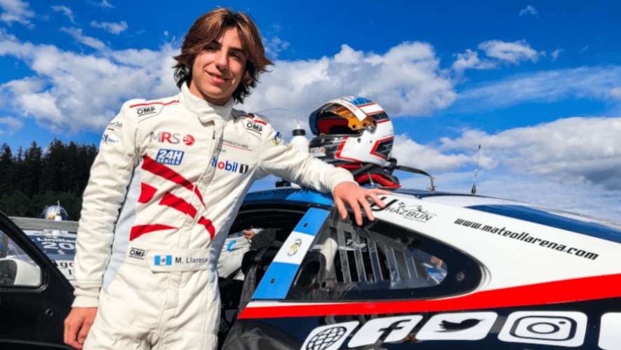 Mateo Llarena cumplió con su debut histórico en la Porsche Mobil 1 Supercup 2020