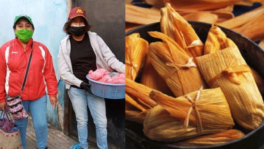 Hermanas quetzaltecas ofrecen tamalitos para ayudar a su familia debido al COVID-19