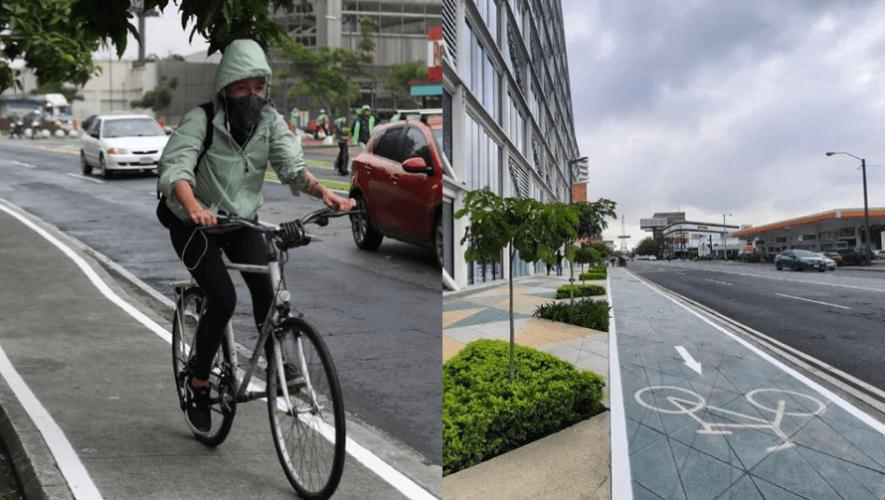 Zonas Bici Habilitan ciclovías y biciparqueos en Zona 4 de la Ciudad de Guatemala