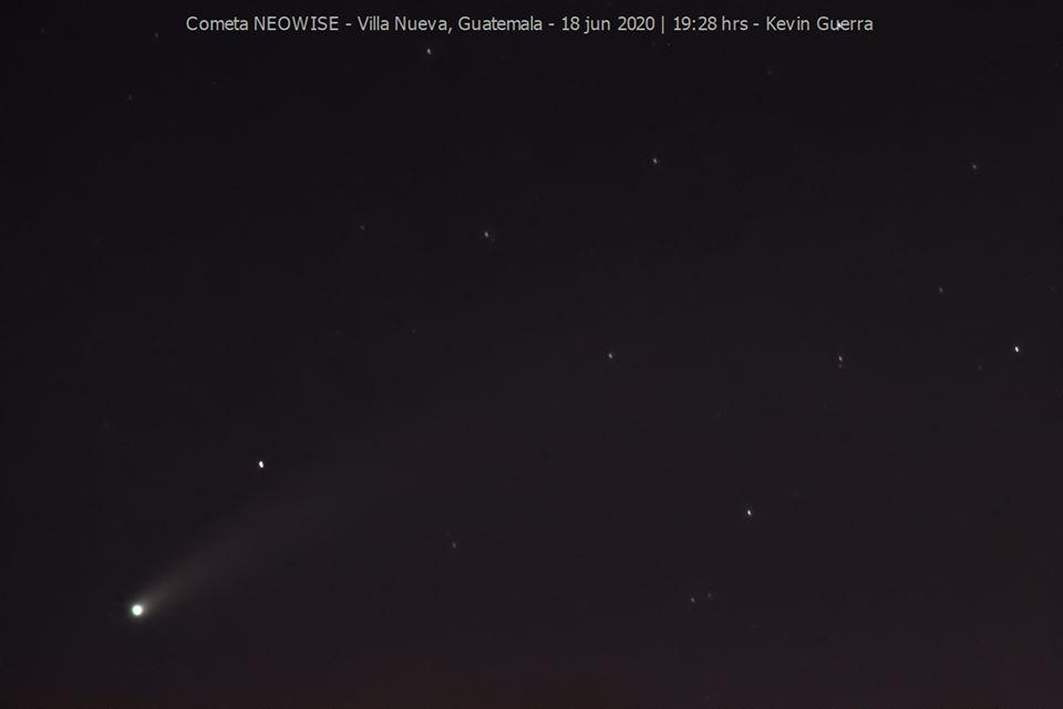 observar el Cometa Neowise desde Guatemala en julio 2020