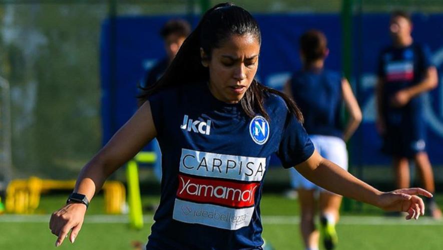 Ana Lucía Martínez está lista para debutar con el Napoli Femminile, en la Serie A de Italia