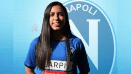 Ana Lucía Martínez fue anunciada como nueva jugadora del ASD Napoli Femenino