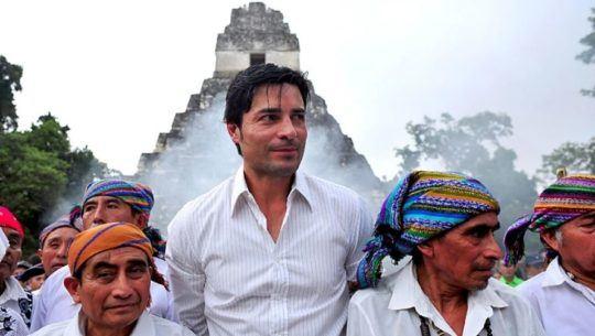 Así fue la visita de Chayanne al Parque Nacional Tikal, Petén, en 2012