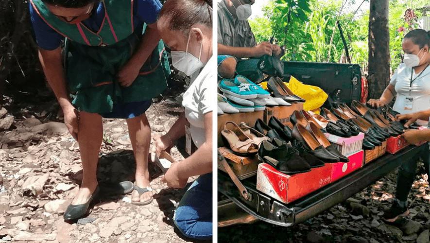 Calzado González donó zapatos nuevos a mujeres de escasos recursos en Jutiapa