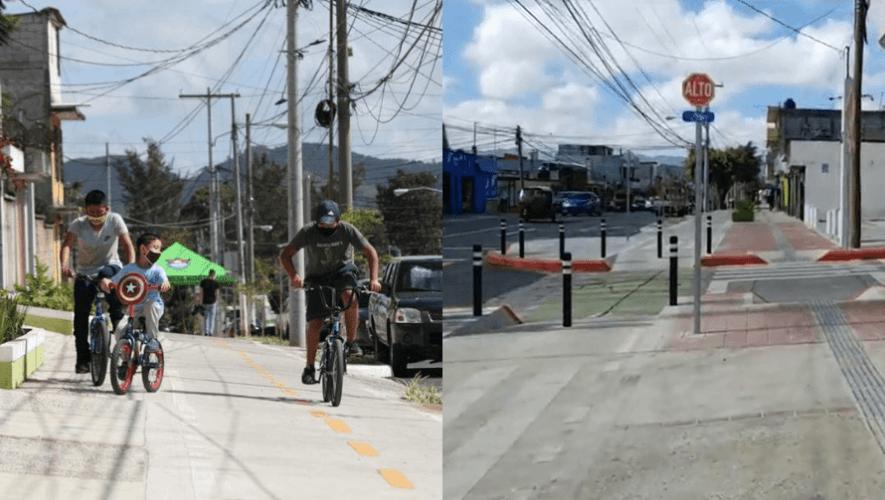 Comienzan a construir 7 kilómetros de ciclovía en la Zona 18 de la Ciudad de Guatemala
