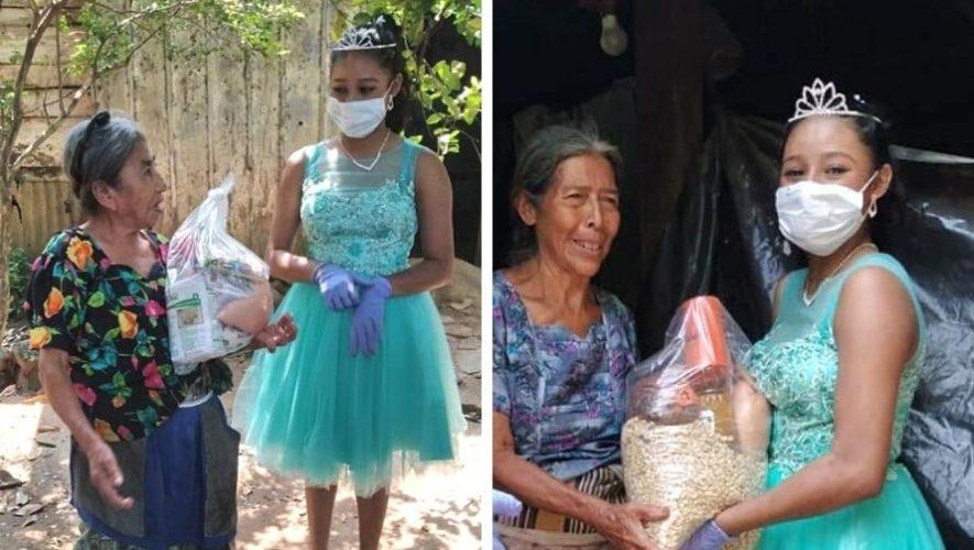 Diana Zuñiga celebró sus quince años donando víveres a los más necesitados