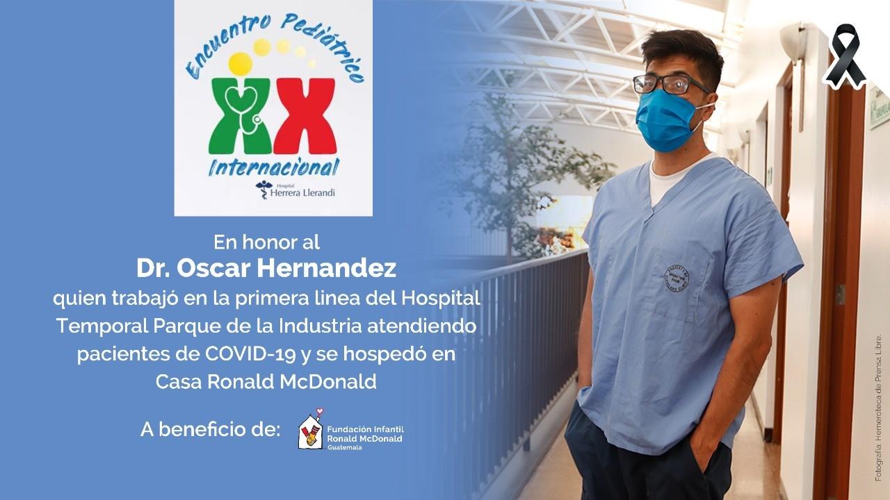 Homenaje al doctorOscar Hernandez