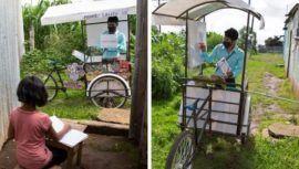 ProfesorGerardo Ixcoy fue destacado por medios internacionales por dar clases en triciclo