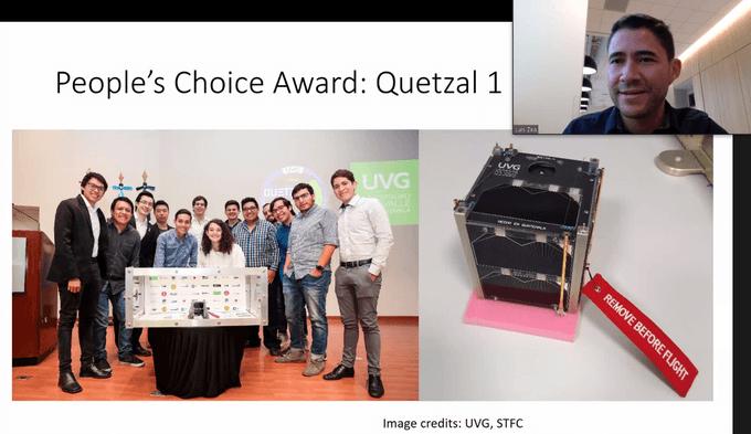 Quetzal 1 Primer satélite guatemalteco ganó el premio People's Choice Award 2020