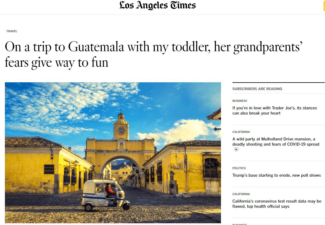 Su visita a Guatemala historia ganó premio internacional
