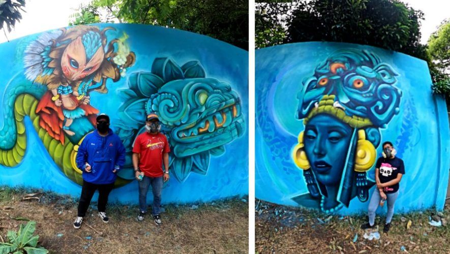 covid-19-voluntarios-guatemaltecos-pintaron-mural-zona-7-ciudad-de-guatemala